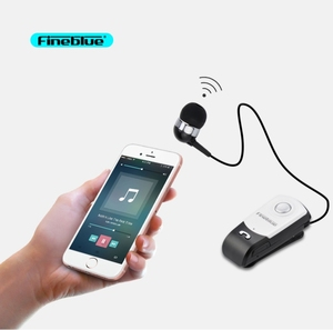 Fineblue F960 Wireless Bluetooth Earphone Earbuds with Handsfree Mic Calls Remind Headset Vibration Wear Clip Driver Headphone