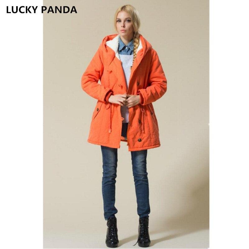 Lucky Panda 2016 New code slim hooded drawstring lamb wool coat LKP249 эхолот lucky ffw718li