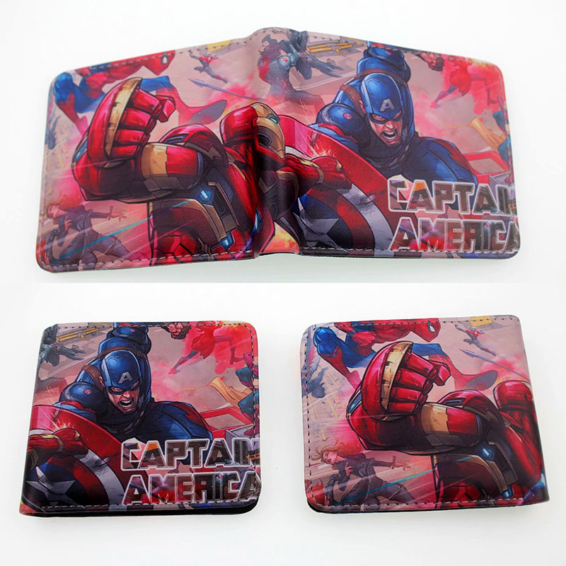 387933757 COMICS DC MARVEL los Vengadores HULK/IRON MAN THOR/capitán América/SUPERMAN  monedero LOGO crédito OYSTER licencia tarjeta titular de la cartera