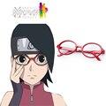 Envío gratis Boruto : Naruto the Movie Uchiha Sarada marco Anime Cosplay accesorios