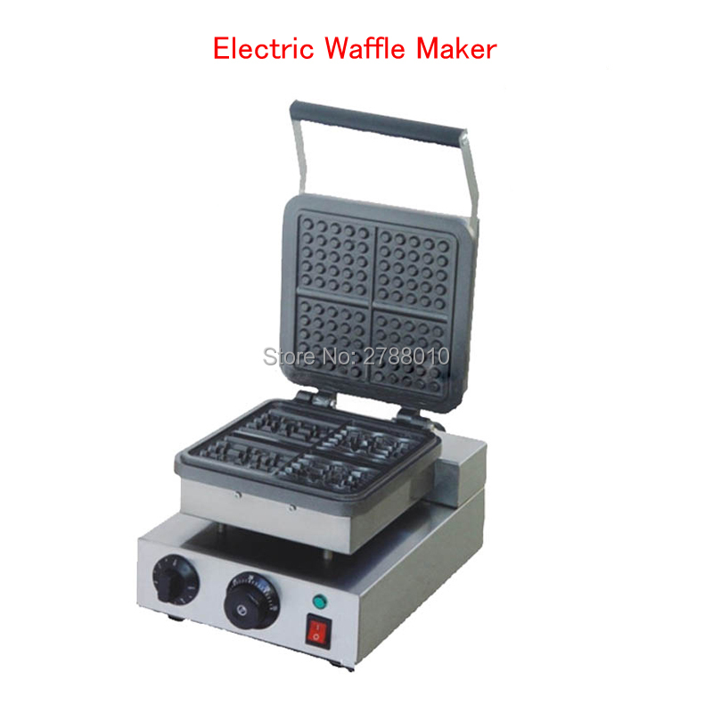 220V Electric Waffle Maker Non-Stick Cooking Waffle Machine Square Waffle Furnace Electric Muffin Machine FY-218
