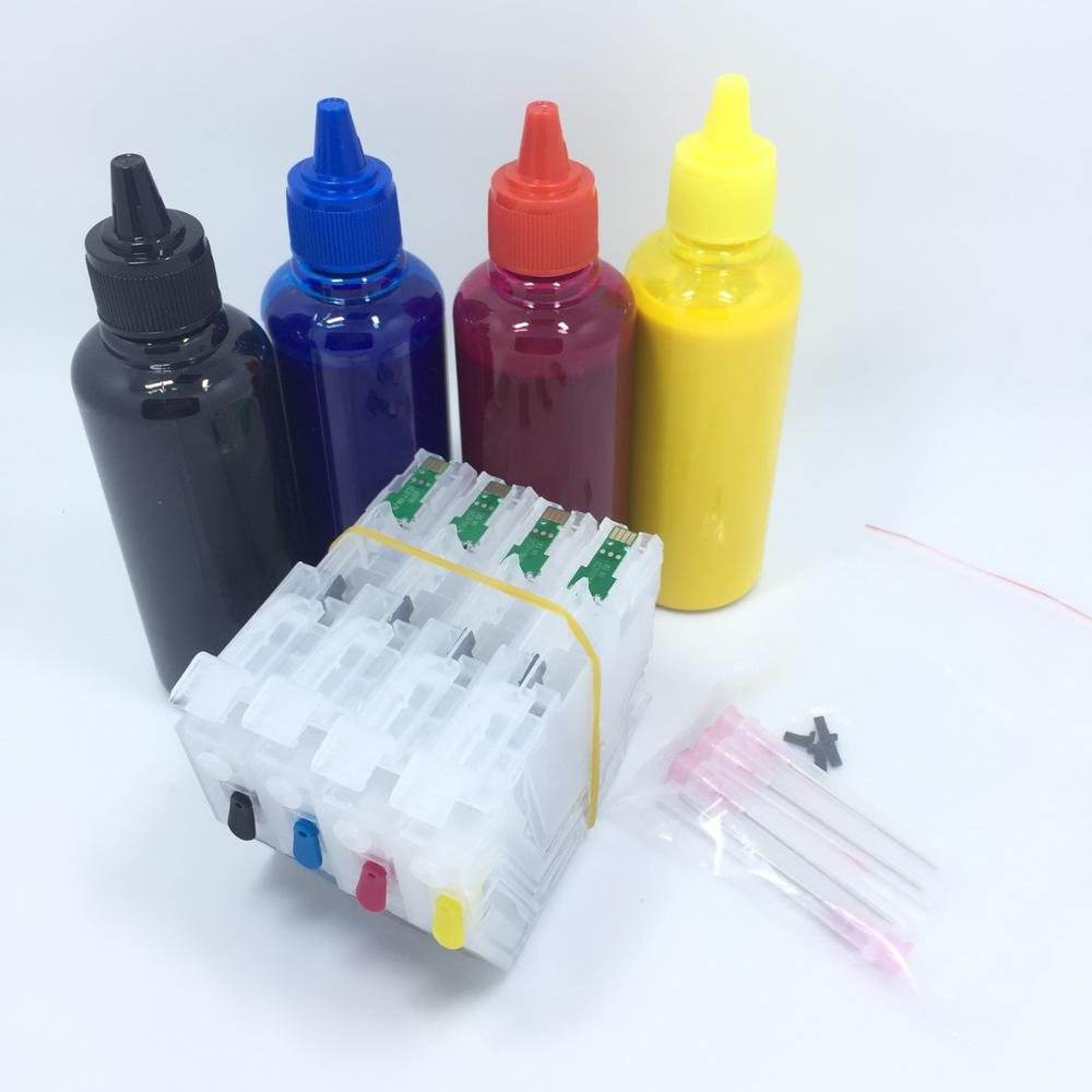 YOTAT 4*100ml Pigment ink + LC3111XL Refillable ink cartridge LC3111 for Brother DCP-J972N DCP-J973N-W/B DCP-J572N MFC-J893N lc73 lc79 lc75 lc1240 lc1280 refillable cartridge for brother dcp j6510dw j6710dw j6910dw