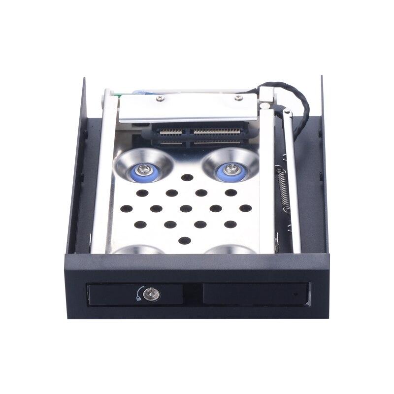 2.5 pouce antichoc SATAIII 6 Gbps interne HDD/SSD plateau caddy pour pouces floppy espace avec Hot-swap hdd cas