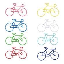 Зажим для бумаги в форме велосипеда канцелярские принадлежности