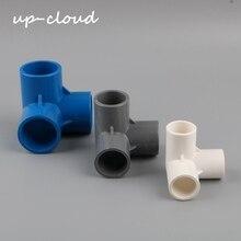 Conector de tubería de agua de 3 vías tridimensional 3D de PVC, 20mm, 25mm, 32mm, adaptador de tubo, accesorios para riego de jardín, estantería para manualidades, 2 uds.