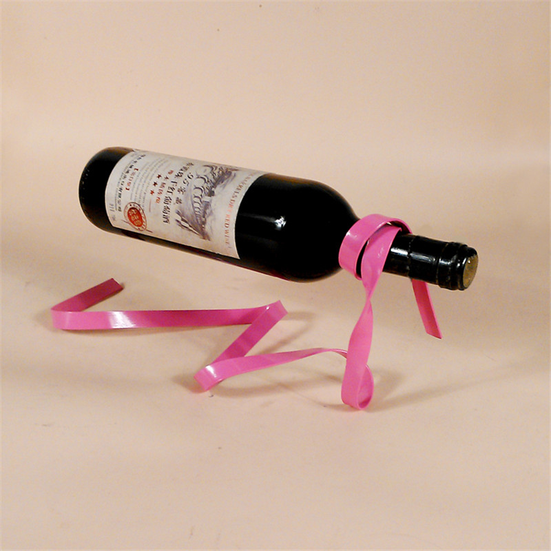 Magic Suspension Ribbon Wine Rack Suspension Wine Stand Novelty Iron Rack Bottle Holder Stand Bar Wedding