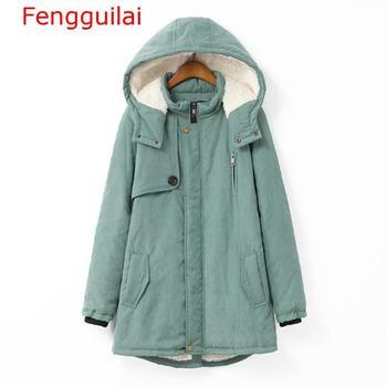 Fengguilai Large Size 100KG Parka 2019 New Winter Women Hooded Padded Jacket Coat Cashmere Warm Jackets And Coats Female фото