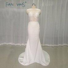 Lace Mermaid Evening Dresses Sexy Evening Gowns 2019 White Vestido de fiesta robe de soiree longue