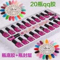 Hot 120 Colors Selection Nail Gel 22pcs Set UV Gel Top Coat Primer High Quality Soak