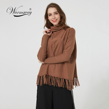 On Sale Plus Size Spring Autumn Solid Color Knitte