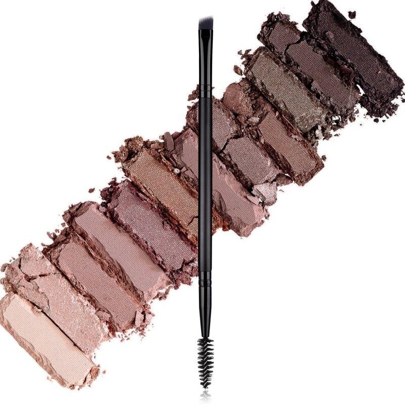 2019 двухсторонний макияж для глаз кисть для бровей Кисть для ресниц Мягкая нейлоновая щетина деревянная ручка косметика для глаз Кисть