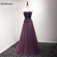 New Arrival Lace Appliques Beaded Long Bridesmaid dresses 2018 Purple Robe demoiselle d'honneur Bridesmaid dress Tenue mariage