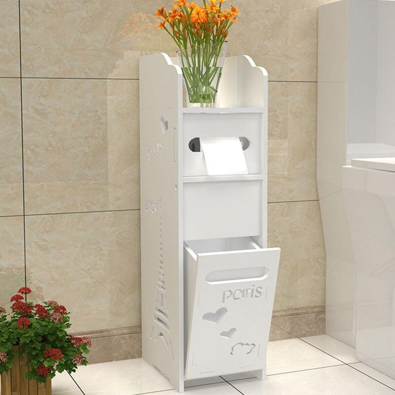 Modern Bathroom Vanity Floor Standing Toilet Cabinet Folding Bathroom Storage Rack Washb ...
