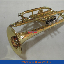 AAA качество золотой лак Карманный Труба Корнет большой колокольчик рог с чехлом
