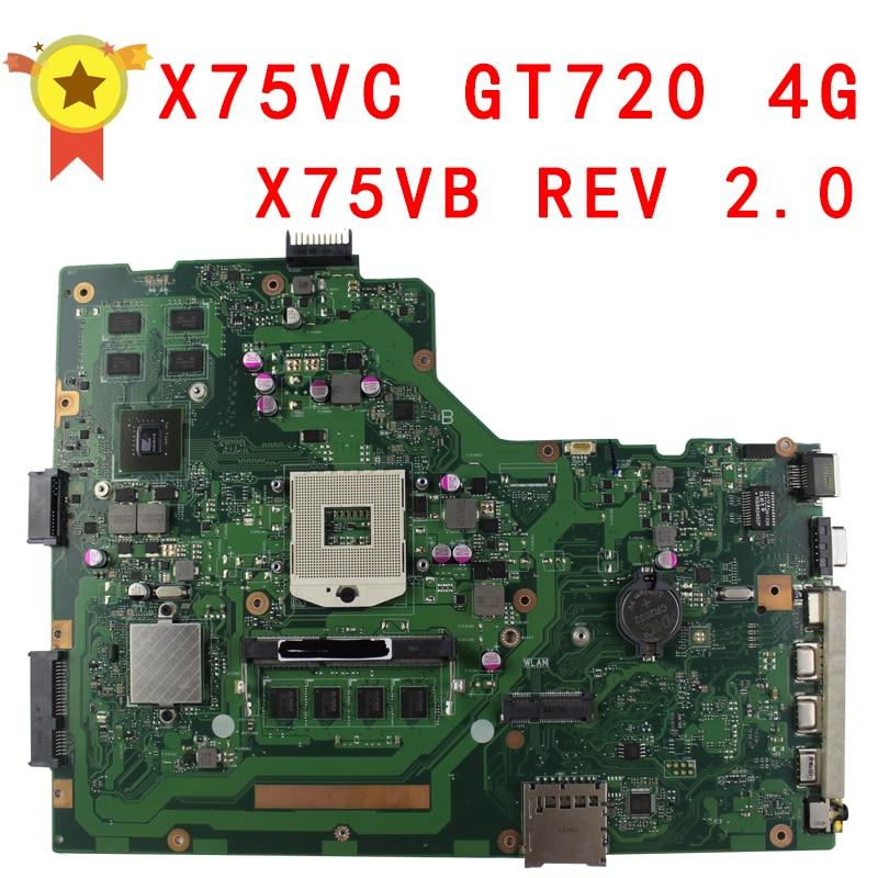X75VC motherboard X75VB REV2.0 Mainboard Graphic GT720 4G Memory On Board 100% test ipc floor pca 6114p10 rev b1 100% test