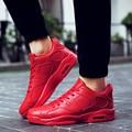 Marca Unisex Solid Casual Zapatos Planos Respirables Al Aire Libre de Aire Zapatos Casuales Para Hombre Zapatos Mujer Canasta Femme Amantes Zapatos de Deporte
