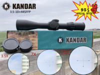 Hunting Riflescope 3.5 10X44 FFP Scope With Red Dot First Focal Plane Optics With 11 or 20MM Rail Black Rifle Scope