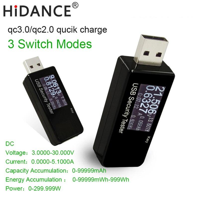 USB tester pantalla LCD amperímetro capacidad monitoreo móvil cargador Cable, ordenador portátil tensión PRUEBA DE CORRIENTE