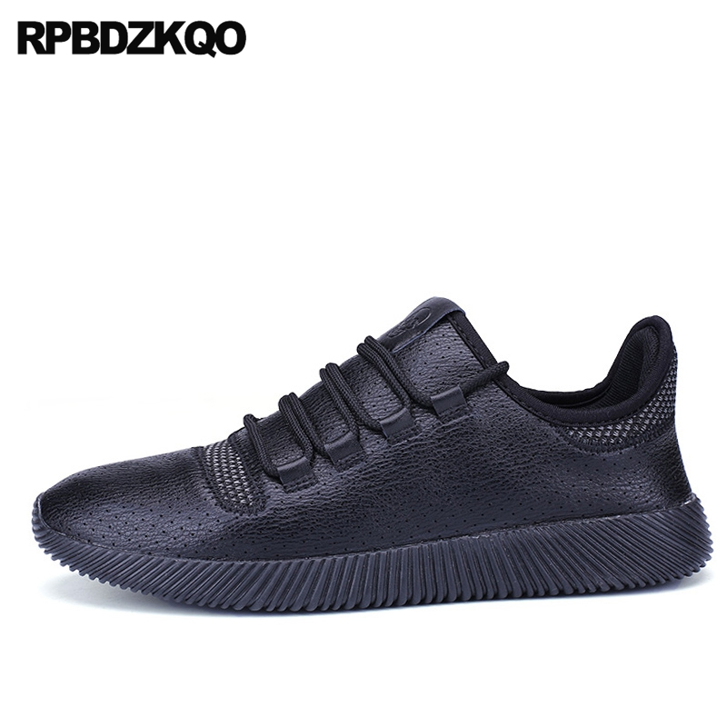 Sneakers Black Walking New Round Toe Men Shoes Casual Fashion Trainers Comfort Breathable Flats Spring Spring Autumn Stylish Hot tfsland men women genuine leather loafers students white shoes unisex spring round toe lace up breathable walking shoes sneakers