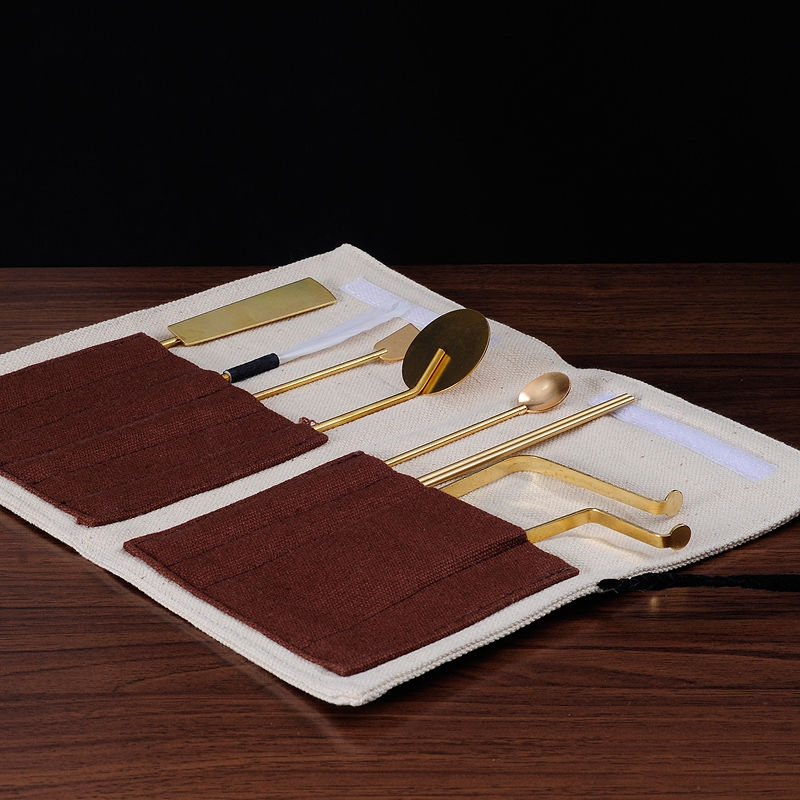 PINNY 7 Stück Weihrauch Werkzeug set Grau Löffel Tasche Weihrauch Ausrüstung Weihrauch Brenner Werkzeuge Buddhistischen Lieferungen Meditation-in Weihrauch & Räuchergefäße aus Heim und Garten bei  Gruppe 1