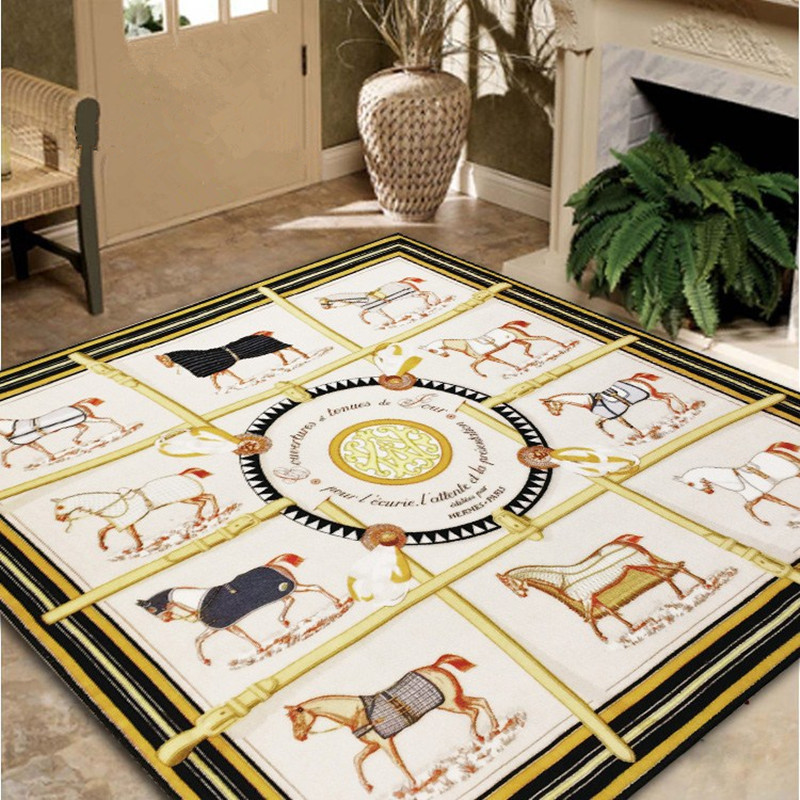 2m High-grade H scarves same paragraph carpet modern minimalist living room square carpe ...