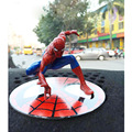 12cm The Amazing Spiderman Magnetic Spiderman Action Figure Decoration Marvel Collection Model Dolls Kids Toys With Opp Bag
