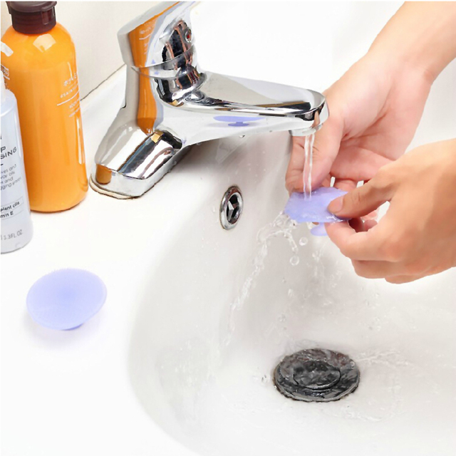 Cleaning Pad Wash Face Facial Exfoliating Brush SPA Skin Scrub Cleanser Tool Face Massager 1