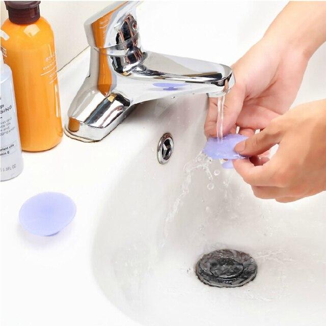 Almofada de limpeza Lavar o Rosto Escova Esfoliante SPA Da Pele Facial Scrub Cleanser Ferramenta Rosto