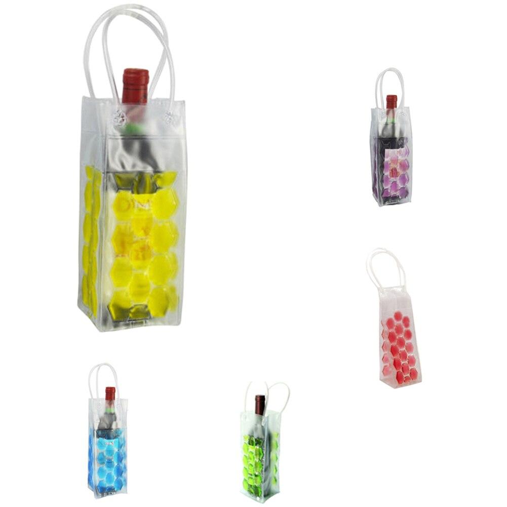 1PC Rapid Ice Wine Cooler PVC Beer Cooler Bag Outdoors Ice Gel Bag Picnic Wine Cooler Chillers Frozen Bag Bottle Cooler