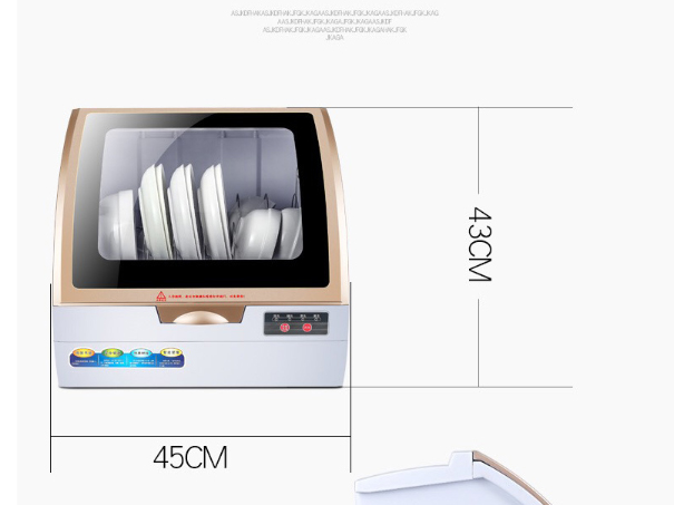 Automatic Dishwasher Table Free Installation Household High Temperature Spraying Embedded Sterilization Dryer