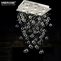 Rectangle Crystal Light Fixture Ceiling Mounted Living Room Bedroom Lamp Lustres De Cristals Lighting With Real
