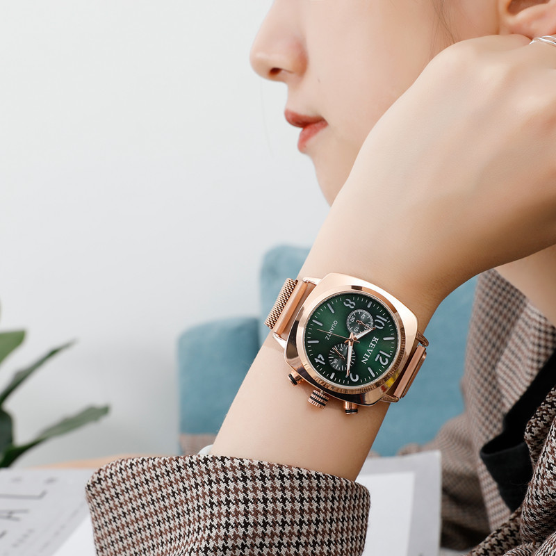 Square Women Watch Magnetic Stainless Steel Rose Gold Waterproof Ladies Wrist Watch For Montre Femme 2019 Relogio Feminino Gift 1