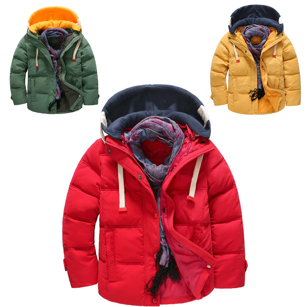 New Snowsuit Children Jacket Outerwear Boys Autumn Thickening Warm Down Hooded Coat Teenage Parkas Kids Winter Cheap Jacket 2017 winter women jacket down new fashion long sleeve hooded thick warm short coat slim big yards female autumn parkas ladies242