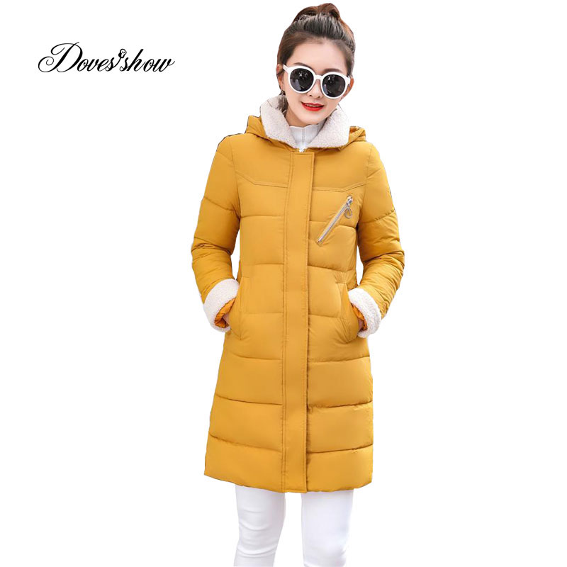 Hooded Winter   Down     Coat   Jacket Long Warm Slim Women Cotton-padded Casaco Feminino Abrigos Mujer Invierno Wadded Parkas Outwear 2