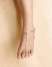 Bohemian Boho  Silver Antalya Hollow Flower Salve Anklet Bracelet Foot Sandal Beach Ankle Chain