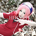 Shippuden Sakura Haruno Medium Length Pink Girl Cosplay Costume Wig synthetic wigs Halloween Hair
