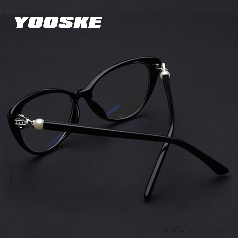 4019e17c89 YOOSKE Women Cat Eye Reading Glasses Fashion Elegant Hyperopia Prescription  Glasses Ultra Light Blue Film Resin Reading Glasses