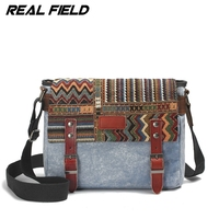 Real Field New Vintage Casual Men Male Canvas Messenger Bags Crossbody Bag Travel Bag Military Laptop