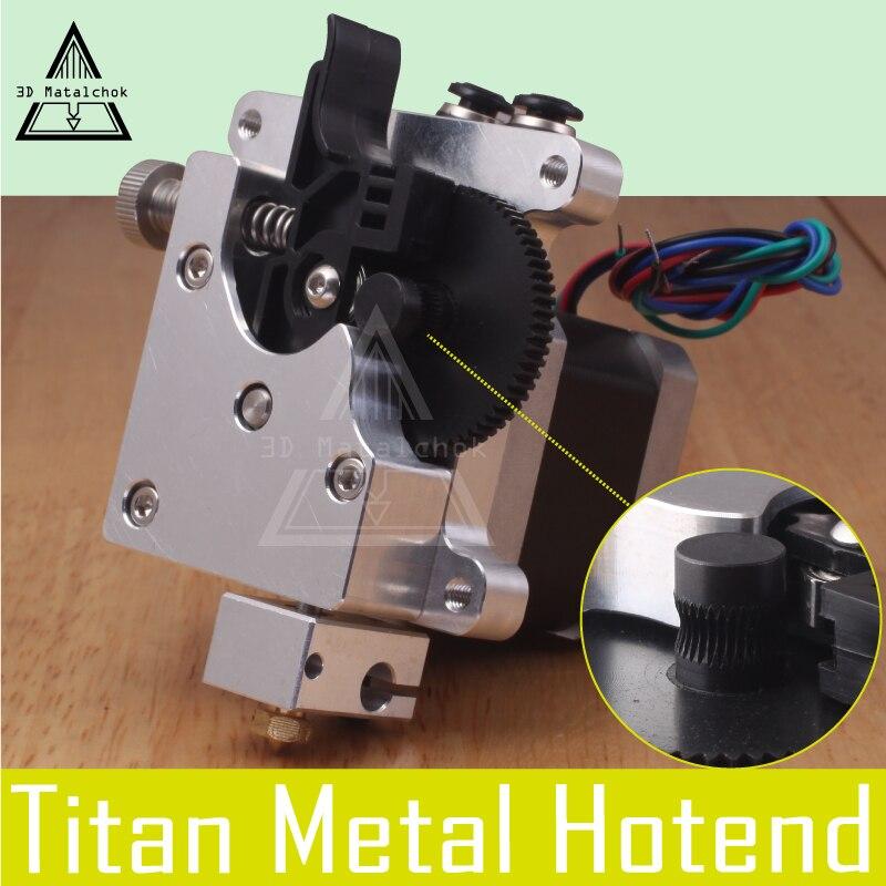 3D Matalchok 3D imprimante pièces E3D Titan AQUA eau de refroidissement Extrudeuse pour 1.75mm Reprap MK8 Anet a8 Cr-10 hotend au-delà Aero