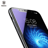 Baseus Full Frosted Screen Protector Tempered Glass For iPhone X 3D Soft Edge Protection Cover Toughened Glass Film For iPhone X