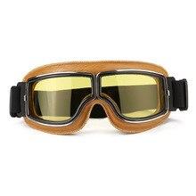 Anti-UV Scooter ATV Bike Motorbike Helmet Goggles Motorcycle Glasses Eyewear Windproof ABS PC lens