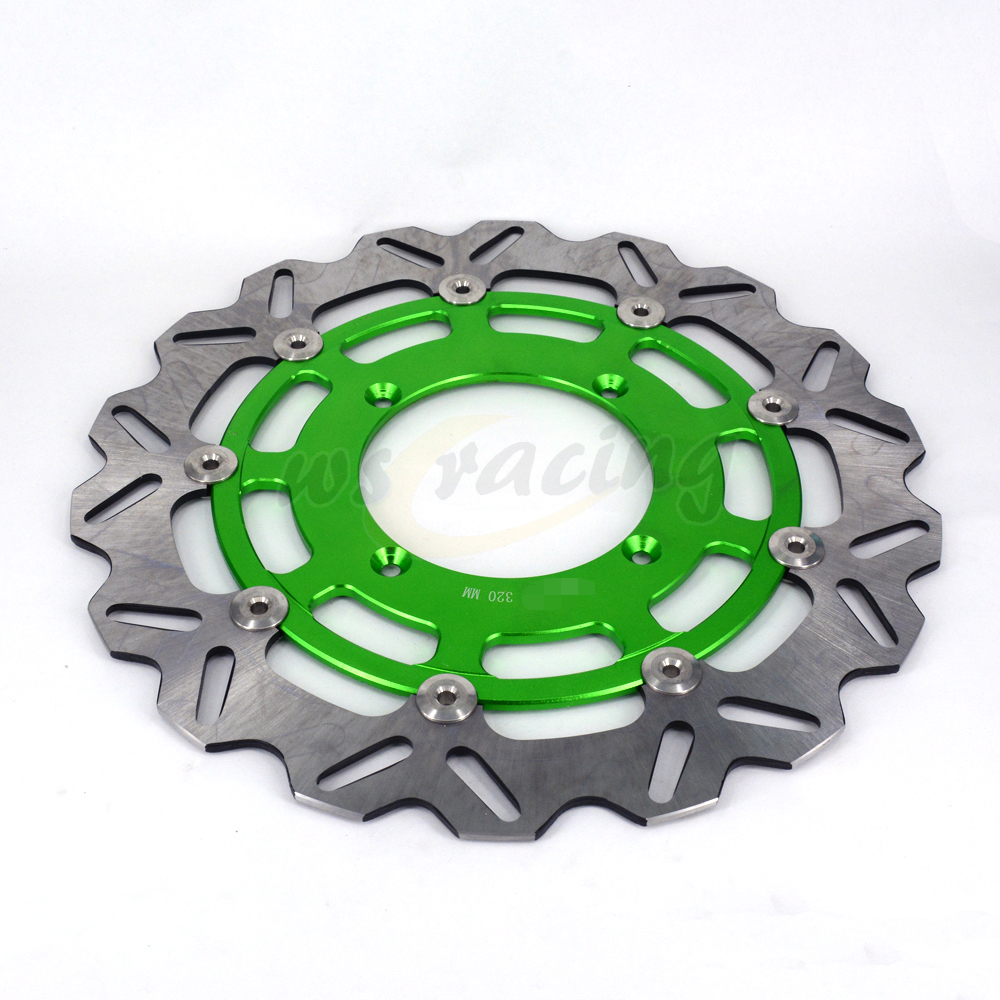 CNC 320MM Motorcycle Front Floating Brake Disc Rotor For KAWASAKI KX125 KX250 2006-2008 KX250F KX450F 2006-2015 KLX450R 07-15