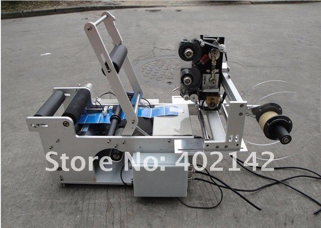 High quality Semi-automatic Round Bottle label machine,adhesive labeling machine, sticker labeler with date coder