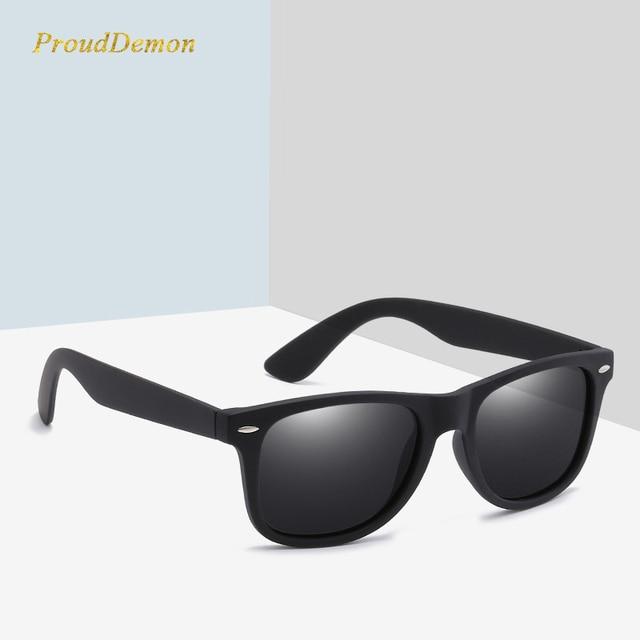 Retro vantage Unisex Square Polarized Sunglasses Men Driving Mirrors Coating Points Black Frame Male Sun Glasses Women UV400