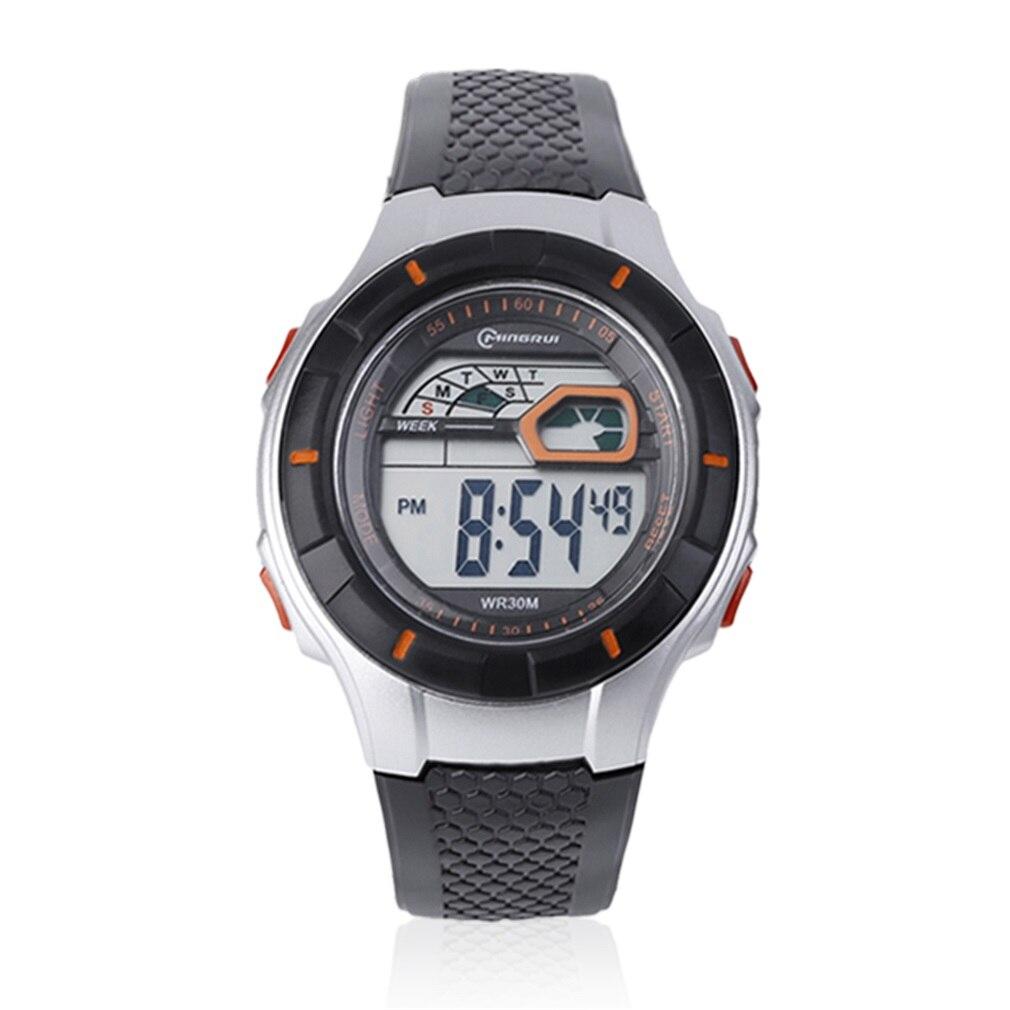 11 Circular Hole Watches Multicolor Optional Women Men Luxury Famory LED Digital Electronic Luminous Quartz Wristwatch