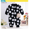 Monkey Love Print Fleece Newborn Baby Girl Overalls Romper Macacao Bebe Body Baby Rompers New Born Baby Clothes, Size 3-12M