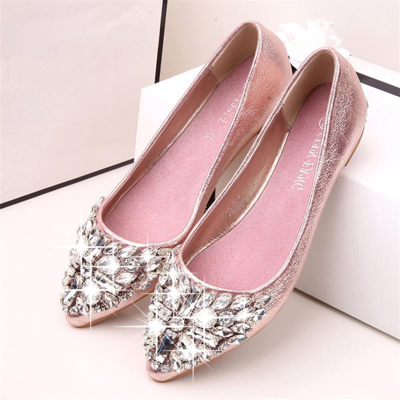 Fashion women shoes solid patent PU shoes women flats new 2017 summer style ballet princess shoes for casual Crystal 2016 new arrival women fashion solid flower decoration summer female pu style casual shoes ld536169