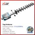 Top qualidade 13dBi yagi antenna exterior para 1800 mhz-2100 mhz DCS 3G cell phone signal repetidor amplificador