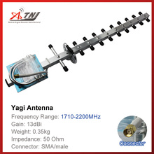 Top quality 13dBi outdoor yagi Antenna for 1800mhz-2100mhz DCS 3G cell phone signal repeater amplifier
