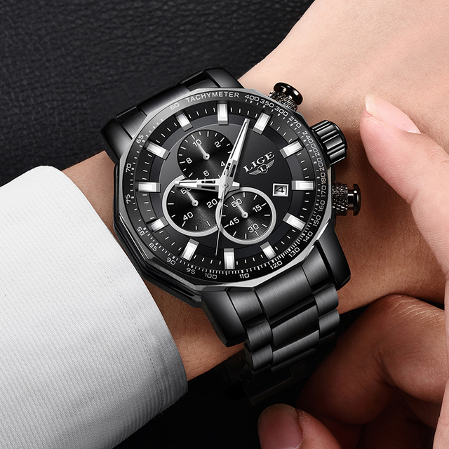 Mens Watches Top Brand Luxury Clock Stainless Steel Sport